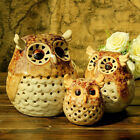 Pastoral Style Ceramic Owl Candle Holder Tealight Table Top Home Decor Craft New