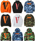 Mens VLONE STAPLE Off White Thin HOODIE Sweatshirts Hoody Pullover Sweaters Lot