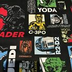 """10 x 6.5"""" Quilting Squares - Star Wars. From Australia $12.5 AUD"""