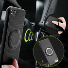 Magnetic Ring Stand Shockproof Hybrid Rubber Case Cover For iPhone 5 6S 7 Plus