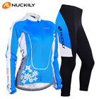 Women Outdoor Cycling Jersey Set Bike Bicycle Long Sleeve Jersey Pants Kits Suit