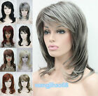 New Womens Synthetic 9 colors Long Layered Ladies Casual Hair Full wigs+Wig Cap