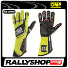FIA OMP ONE EVO Gloves Race Rally Motorsport Yellow Driving 8856 Elasticated