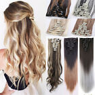 Full Head Hair Extensions Long 100% Natural Clip In Hair Extensions 8 Pieces HS5