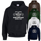 Worlds Best Grandad Hoodie Fathers Day Gift  Family Birthday Present New S-XL