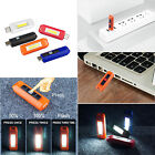 Hiking Camping Mini USB Charge Rechargeable Flashlight Flash COB Pocket Light