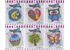 Beginners Child Cross Stitch Owl Heart Cake Fish Tree Butterfly Embroidery