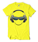 SMILEY FACE T-SHIRT TECHNO DJ S-2XL NEON 4 COLOURS IBIZA RAVE SUMMER