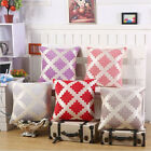 "17"" Chenille Fabric Geometric Pattern Cushion Cover Living Room Pillow Case"