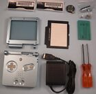 NEW Game Boy Advance GBA SP Replace Housing Shell Screen Lens- Pearl Blue - USA!