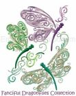 FANCIFUL DRAGONFLIES COLLECTION - MACHINE EMBROIDERY DESIGNS ON CD
