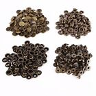 12mm 4-Part Bronze Press Studs Prongs Snap Fasteners - Heavy Duty Fixing Craft