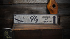 Airplane Decor, Aviation, Pilot, Learn - Rustic Distressed Wood Sign ENS1001158