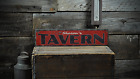 Custom Personalized Tavern Pub - Rustic Handmade Vintage Wooden Sign ENS1001196