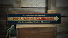 Fishing Excursions, Custom Beautiful - Rustic Distressed Wood Sign ENS1001320