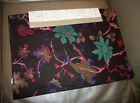 """Tradewinds 4 pc brown multi floral 100% cotton 14"""" x  20"""" table placemats"""
