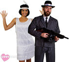 COUPLES GANGSTER AND FLAPPER COSTUMES 1920S FANCY DRESS THE GREAT GATSBY PARTY