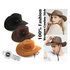 Unisex Cowboy Hat Western Rodeo Fancy Dress Accessory Brown Black Yellow Hats
