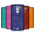 HEAD CASE DESIGNS CROCODILE SKIN PATTERN HARD BACK CASE FOR LG PHONES 1