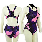 ACCLAIM Seychelles Ladies Girls Racer Back Swimming Costume St Tropez Print