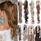 Clip in Claw Jaw Ponytail Pony tail Hair Extensions Wavy Straight hair piece TUK