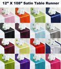 "12pc Wedding 12"" x 108"" Satin Table Runner Party banquet Decoration - FREE SHIP"