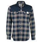 Aqua Products Navy Check Flannel Button Up Shirt SALE Fishing Men's Clothing