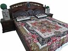 INDIAN COTTON BEDSPREAD BEDDING ETHNIC PRINTED BOHO DECOR BED THROW TAPESTRY