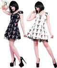 HEARTS AND ROSES H&R LONDON TRIBAL TATTOO MINI net DRESS BLACK WHITE