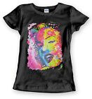 Neon Marilyn Monroe T Shirt Portrait Rainbow Cute Womens Sizes Small to 3XL