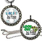 Look Out 1st Grade! Children's Bottle Cap Necklace Chain Handcrafted Jewelry