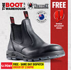 Redback UBBK Non Safety Work Boots. Elastic Sided Bobcat Oiled-Kip Black Leather