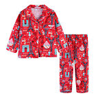 Pyjamas Girls Winter Cotton Flannel 2pc Pjs (Sz 3-7) Set Red Paris Sz 3 4 5 6 7