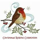 CHRISTMAS ROBINS COLLECTION - MACHINE EMBROIDERY DESIGNS ON CD