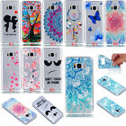 Rubber Painted Ultra-thin Pattern Silicone Soft TPU Back Case Cover for Phones