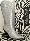 NEW Silver Helen Heart's 0290-12 Sequin Embroidered Western Bling Boot