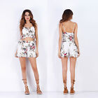 Women Fashion Flower Printed Mini Top Backless Shorts Suits Colorful Paty New