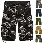 Men's Casual Summer Multi-Pocket Shorts Cargo Workout Combat Cotton Shorts Pants