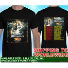 Yngwie Malmsteen World on Fire Concert Tour Dates T-shirt Size S to 5XL #908