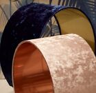 Crushed Velvet Handmade Lampshade in Copper or Gold Lining *CHOICE OF 8 COLOURS*