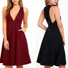 Summer Women Sleeveless Bodycon Party Dresses Cocktail Casual Short Mini Dress