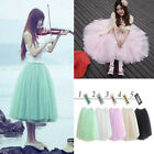 Womens 5 Layers Princess Tulle Ballet Circle A Line Flare Gauze Tutu Fairy Skirt