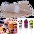 10 pcs Plastic Clear Push Pop Containers  Ice Cream Cake Shooters Push Up Pop