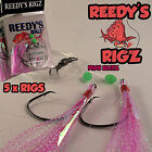 5 Fishing rigs Snapper Flasher Surf Rig Tied Paternoster Size 5/0 Hook fly Reef