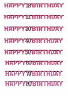Pink Special Age Birthday Prismatic Jointed Letter Banner Garland 7ft Decoration