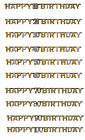 Gold & Silver Special Age Birthday Prismatic Jointed Letter Banner Garland