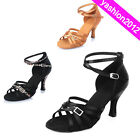 Professional Women's Ballroom Latin Tango Dance Shoes heeled Salsa 40202