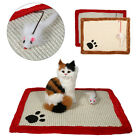 4Colors Cat Kitten Corrugated Post Claw Scratch Play Mat Bed Sisal Hemp Board AF