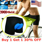 Men Bicycle Bike Underwear Pants Cycling Shorts with Sponge Gel 3D Padded Blue
