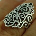 Large Victorian Style Silver Ring, MIX US SIZE, 925 Solid Sterling Silver, rp653